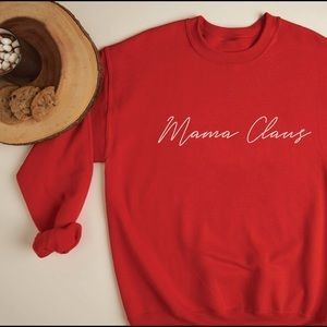 MAMA CLAUS SWEATSHIRT RED